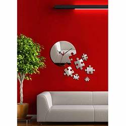 Puzzle Saat Dekoratif Kırılmaz Ayna Saat