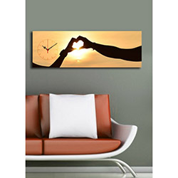 Quick (3090UCS-14) 3090 Canvas Tablo Saat - 30x90 cm