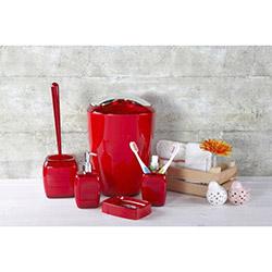 Simple Living 5'li Akrilik Banyo Seti - Kırmızı