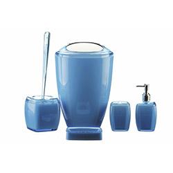Simple Living 5'li Akrilik Banyo Seti - Mavi