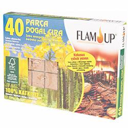 Flam Up Çiçek Özlü 40'lı Doğal Çıra