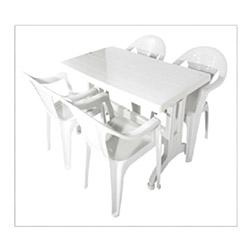 Estelia 4'lü Sandalye Masa Seti - Beyaz