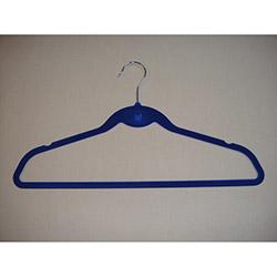 Lorin CS1091 5'li Kadife Elbise Askısı - Mavi