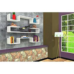 Rafline Violet 3'lü Duvar Rafı - Beyaz
