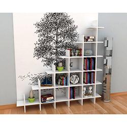 Rafline Puzzle Kitaplık - Beyaz
