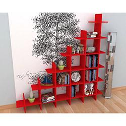 Rafline Puzzle Kitaplık - Kırmızı