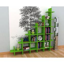 Rafline Puzzle Kitaplık - Yeşil