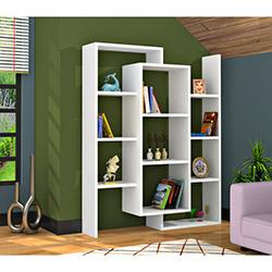 Rafline Luce Kitaplık - Beyaz