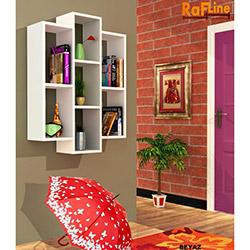 Rafline Solid Kitaplık - Beyaz