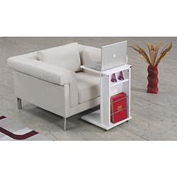 Prado Yan Sehpa - Laptop Sehpası Beyaz