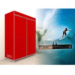 Prado Sörf Çantalı Bez Dolap - Kırmızı
