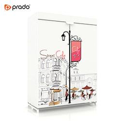 Prado Sublimasyon Baskılı Tela Bez Dolap Cafe