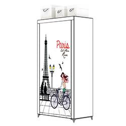 Prado Çok Amaçlı 4 Raflı Baskılı Bez Dolap - Paris