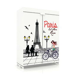 Prado Sublimasyon Baskılı Tela Bez Dolap - Paris