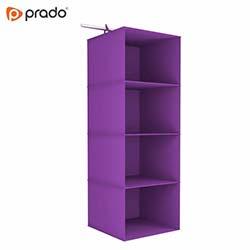 Prado Tela 4 Katlı Dolap Düzenleyici Organizer - Mor