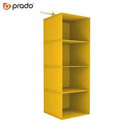 Prado Tela 4 Katlı Dolap Düzenleyici Organizer - Sarı