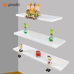 Prado 3'lü Duvar Rafı - Beyaz