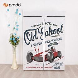 Prado Basic Old School Portatif Bez Dolap - Beyaz