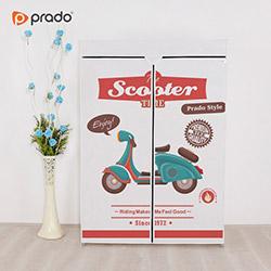 Prado Basic Scooter Portatif Bez Dolap - Beyaz