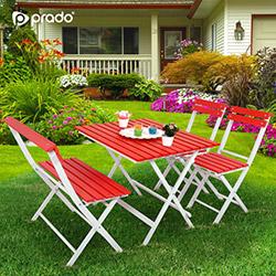 Prado Adaliss Bahçe Masa Takımı - Kırmızı