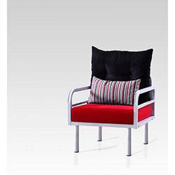 Hira Tekli Koltuk - Siyah / Kırmızı