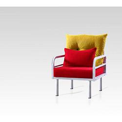 Hira Tekli Koltuk - Sarı / Kırmızı