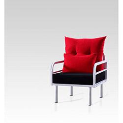 Hira Tekli Koltuk - Kırmızı / Siyah