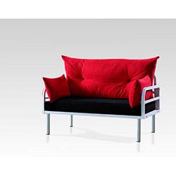 Hira İkili Kanepe - Kırmızı / Siyah