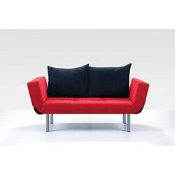 Comfy Home Porto İkili Kanepe - Kırmızı / Siyah