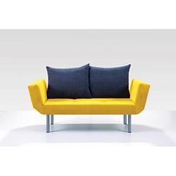 Comfy Home Porto İkili Kanepe - Sarı / Lacivert