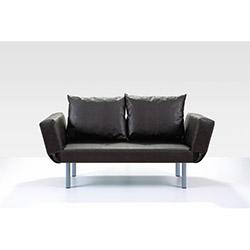 Comfy Home Porto İkili Kanepe (Suni Deri) - Siyah