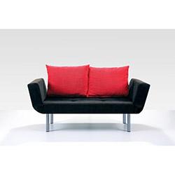 Comfy Home Porto İkili Kanepe - Siyah / Kırmızı