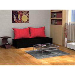 Cosy Üçlü Kanepe - Siyah / Kırmızı