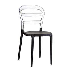 Siesta Miss Bibi Sandalye - Siyah Şeffaf