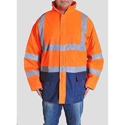 Endüstri Giyim dg11-091-00XL Oxford Ceket Tipi Yağmurluk(Turuncu) - XL