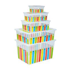 Qutu 5'li Striped Animals Light Box Kutu