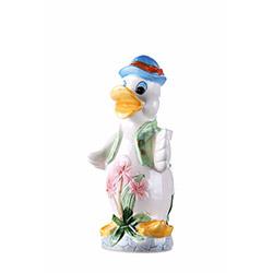 iHouse Seramik Ördek Figürlü Kaşıklık (Beyaz) - 23 cm