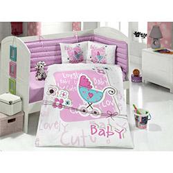 Aran Clasy Lovely Baby Tek Kişilik Ranforce Bebek Uyku Seti - Pembe