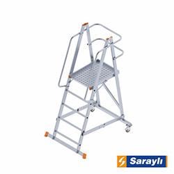Saraylı Katnalabilir Tekerlekli Platform Merdiven - 1.35 m