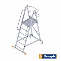Saraylı Katnalabilir Tekerlekli Platform Merdiven - 1.6 m