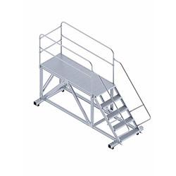 Saraylı Korkuluklu Endüstriyel Platform Merdiven - 1.4 m