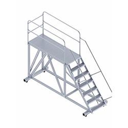 Saraylı Korkuluklu Endüstriyel Platform Merdiven - 1.9 m