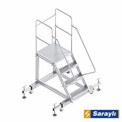 Saraylı Ayarlanabilir Ayaklı Platform Merdiven - 1 m