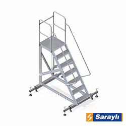 Saraylı Ayarlanabilir Ayaklı Platform Merdiven - 1.8 m