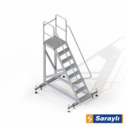 Saraylı Ayarlanabilir Ayaklı Platform Merdiven - 2.1 m