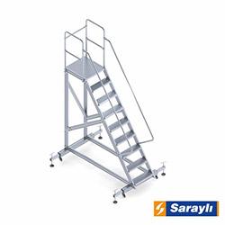 Saraylı Ayarlanabilir Ayaklı Platform Merdiven - 2.35 m