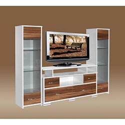 Stile Elitra Tv Ünitesi - Parlak Beyaz / Ceviz
