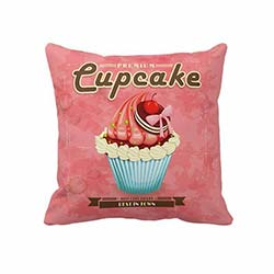 Beauty Crafts 002 Cupcake Dekoratif Yastık - 43x43 cm