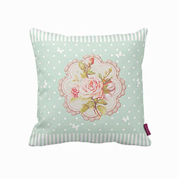 Beauty Crafts Country Mint Dekoratif Yastık - 43x43 cm