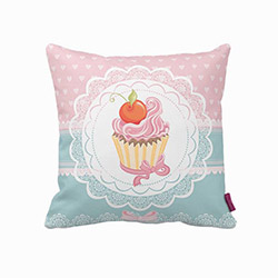 Beauty Crafts 003 Cupcake Dekoratif Yastık - 43x43 cm